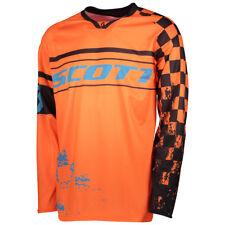 Scott 350 Track MX Motocross Jersey / DH Fahrrad Trikot orange/blau 2018