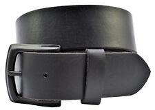 Full Grain Buffalo Solid Leather Belt w/ Black Pin Buckle - TBS3600-001