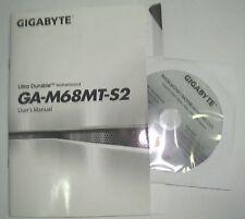 DRIVER CD + MANUALE x scheda madre main board GIGABYTE GA-M68MT-S2