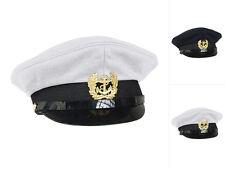 Mil-Tec Marine Schirmmütze mit Abzeichen Marinemütze Mütze Kapitänsmütze 56-61