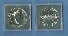 CANADA 1 DOLLARO ARGENTO 1984 CANOA TORONTO SILVER