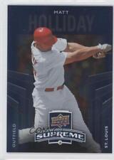 2010 Upper Deck Supreme Blue #S-40 Matt Holliday St. Louis Cardinals Card