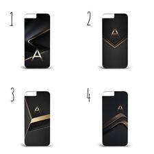 Personalised Initial Dark Golden A31 HARD PLASTIC Phone Cover Case  iPhoneX/S9