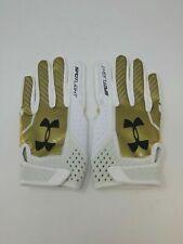 New Under Armour Men's Gold/Yellow/White Spotlight WR Football Gloves