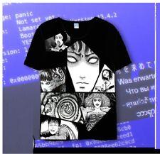 Rare Junji Ito Collections Horror Dark Gothic Punk T-shirt Vortex Uzumaki Unisex