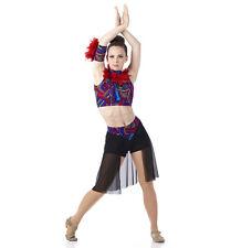 Mosaic Shorts Dance Costume Ballet Lyrical Contemporary Girls CL,CX,AS,L,XL,2XL