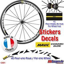 Autocollants de roue MAVIC Cosmic Elite - Stickers Weel decals Rim set- C001