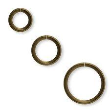 100 Round 21 Gauge Antique Brass Steel Metal Open Ring Jumpring Jewelry Findings