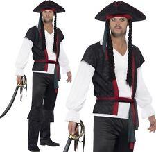 Mens Aye Aye Caribbean Pirate Fancy Dress Costume Men's Jack Outfit by Smiffys