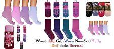 12 PAIR Women Slipper Gripper Warm Non-Skid Fluffy Bed Socks Thermal Size 4-7