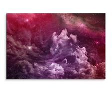 Wandbild Naturfotografie Violette Nebel und kosmischer Staub auf Leinwand