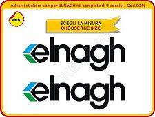 Adesivi stickers camper ELNAGH kit completo di 2 adesivi diverse misure - Cod.46