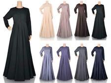Womens Modest Dress Plain Abaya Burqa Kaftan. Farasha Jilbab Ladies Maxi Dress
