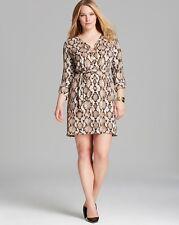 NWT $130 - MICHAEL KORS WOMAN Snake Printed CHAIN DRESS, PLUS  1X  2X, Caramel