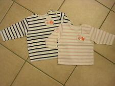 Sweat- Shirt mit langem Arm, weiß/rosa oder blau/weiß von Petit Bateau. NEU!!!