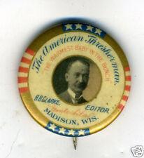 1900 Pinback American Thresherman Paper Madison WI