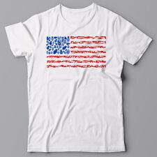 Funny T-shirt AMERICAN FLAG, WEAPON, GUNS cool tee shirt America, USA, TRUMP, US