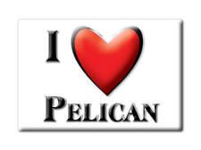 SOUVENIR USA - ALASKA MAGNET I LOVE PELICAN (SKAGWAY HOONAH ANGOON COUNTY)