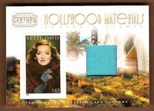 Bette Davis 2011 Century Hollywood Material Stamp #/250