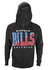 Buffalo Bills NFL Football Mens Split Formation Full Zip Fleece Hoodie, Gray
