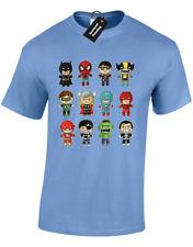 BABY SUPERHERO MENS T SHIRT STARK AVENGER THOR HULK COMIC MOVIE DC GROOT (COL)