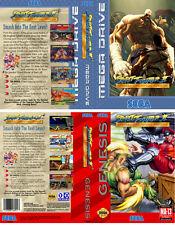 Street Fighter 2 Sega Megadrive Genesis PAL NTS Replacement Box Art Case Insert