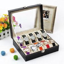 6/12/20/24 Slots Watches Display Case Box Storage Holder Organiser Space Saving