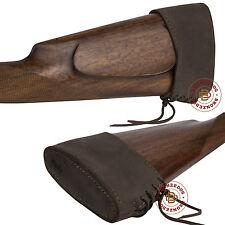 Leather Slip On Recoil Pad Gun Buttpad Shotgun Rifle Brown Black