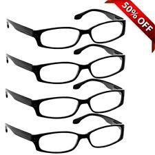 NEW Reading Glasses | Best Readers 4 Pack | Black | Flex Hinges DuraTight Screws