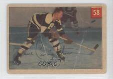 1954-55 Parkhurst #58.2 Dave Creighton (Premium Back) Boston Bruins Hockey Card