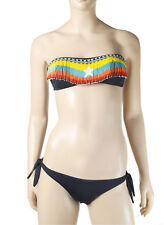 Pin Up Stars  Bandeau Bikini Set Strass Bikini Set Luxus Bademode Farben