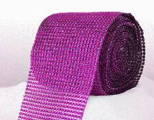 Fuchsia Pink Diamante Rhinestone effect band ribbon Cake Trim Wedding, Sewing