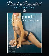 """Desponia"" chest high shiny pantyhose high gloss compression transparent nylons"