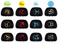 New 2X Embroidery Zodiac Logo Car Truck SUV Seat Headrest Covers For Hyundai