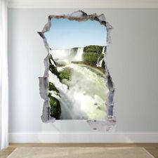 NATURE SCENERY WATERFALL STICKERS 3D WALL ART MURAL ROOM OFFICE SHOP DECOR VU9