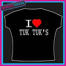 I LOVE HEART TUK TUK BANGKOK THAILAND FUNNY SLOGAN TSHIRT