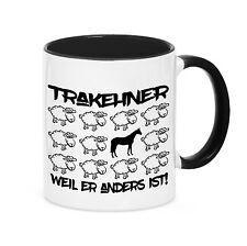 Tasse BLACK SHEEP -  TRAKEHNER - Pferde Pferd Fun Schaf Kaffebecher Siviwonder