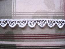 Pretty Venise Lace Scalloped Trim  Doll Hats Lingerie  Black or White 3yds #1399