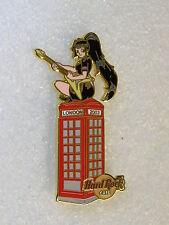 LONDON,Hard Rock Cafe Pin,Sexy Girl on Telephone Box