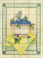 Ceramic Tile Mural Backsplash Mullen Blueberry Fruit Country Life Art SM066