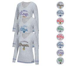 NHL CCM Comfy Crew Retro Team Logo Long Sleeve V-Neck Sweater Collection Women's