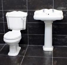 Legend Traditional Victorian Style Basin & Toilet Set Bathroom Suite