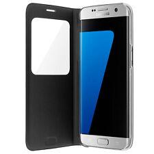 Samsung - Étui à fenêtre Noir Original pour Samsung Galaxy S7 Edge