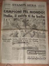 STAMPA SERA 1982 ITALIA CAMPIONE DEL MONDO ! 3-1 !!!