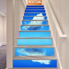 3D cloud blue image Risers Decoration Photo Mural Vinyl Decal Wallpaper US