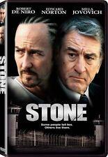 Stone DVD New 2011 Canadian Robert De Niro Edward Norton Milla Jovovich Thriller