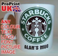 STARBUCKS Personalised Printed Name Mug Christmas Birthday Gift Idea Tea Cup