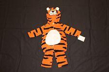 NWT Carter's Boy Tiger Halloween Costume 3-6 mos & 12 mos 2 pc plush zip hooded