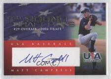 2007 USA Baseball DP-12 Matt Campbell Team (National Team) Auto Autographed Card