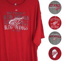 Detroit Red Wings Men's Big & Tall Majestic Graphic Shirts XL - 6XL NHL A12TL